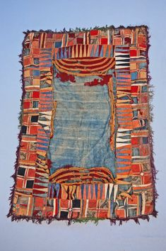 textile / saddle-cloth. Wool. ?Tibet. ?early 20th century. British Museum.