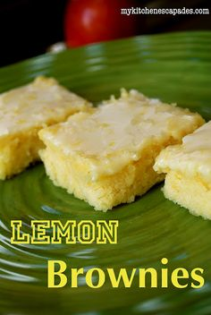 Lemon Brownies...My Kitchen Escapades