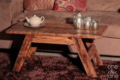 Repurposed Pallet Board ~ Rustic Coffee Table www.Facebook.com/OneChicLane