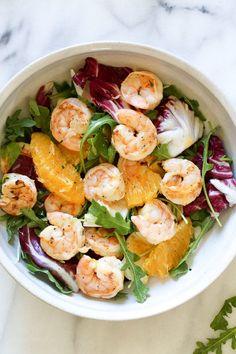 Grilled Shrimp Salad with Orange, Endive, Baby Arugula and Radicchio is the perfect light salad for Spring! This also happens to be Whole30, Dairy Free, Egg-Free and Gluten-Free. (more…)