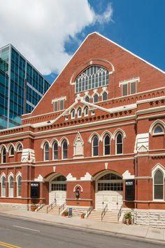 The Ryman Auditorium in Nashville, TN.