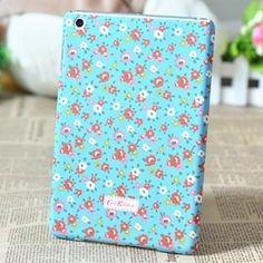 Blue flowers case for iPad mini