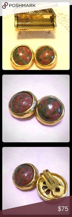 Vintage Kenneth Jay Lane Clip on Earrings Beautiful Vintage and stamped KJL clip on earrings Kenneth Jay Lane Jewelry Earrings