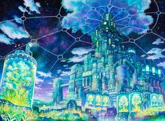 천공의 성 라퓨타, 하울의 움직이는 성을 생각나게하는 일러스트레이터 Kemineko | 인스티즈