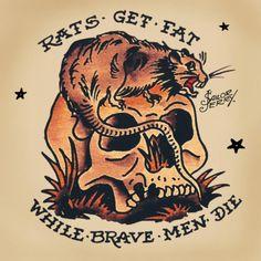 rats get fat tattoo - Google Search