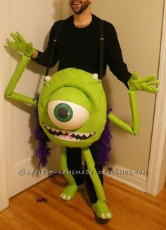 Homemade Mike Wazowski Costume was a Monster Hit!