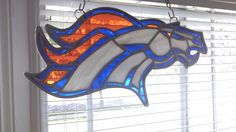 Stained Glass Denver Broncos Logo