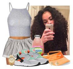 """""""Just Like That"""" by loviedubbie3 ❤ liked on Polyvore featuring B. Swim, H&M, NIKE, Glamorous, Gucci and Michael Kors"""