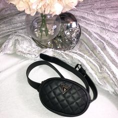 Shop Women's Guess Black Gold size OS Bags at a discounted price at Poshmark. Sold by designer_kitty. Closet Designs, Online Clothing Stores, Crossbody Bag, Black Leather, Belt, Accessories, Shop, Things To Sell, Fashion