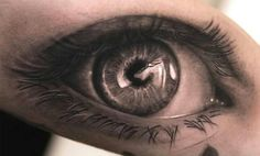 An amazing detailed & realistic eye tattoo by… coolTop Tattoo Trends – Holy shit! Kunst Tattoos, 3d Tattoos, Great Tattoos, Beautiful Tattoos, Body Art Tattoos, Sleeve Tattoos, Tatoos, Wicked Tattoos, Incredible Tattoos