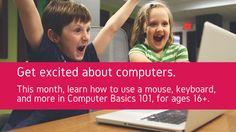 Tuesday, July 14, 3-3:30 p.m.- You have been asking for it and now it is finally back, beginner classes for those wanting to learn how to use a computer. In this particular class you can learn how to use a mouse, the keyboard, and even learn a little bit about using the Internet.  Registration is required and is open to anyone. Ages 18 and up.