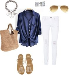 nautical outfit polyvore - Buscar con Google