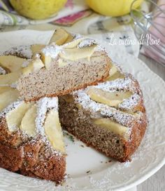 Torta di mele con farina di grano saraceno The Breakfast Club, Eat Breakfast, Pie Co, Velvet Cupcakes, Bakery Cakes, Sweet Cakes, Biscotti, Vegan Gluten Free, Food And Drink