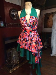 Halter neck Polka dot rockabilly style summer dress by Arwen Garmentry