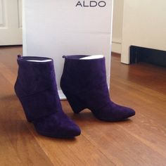 Aldo FROLING Ankle Booties! Showstopping Aldo rich deep purple ankle boots! Never worn! Bought last pair on display that's why the soles look a little dusty. Originally $130! Soooo HOT!!  ALDO Shoes Ankle Boots & Booties