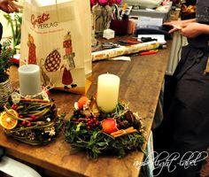 amberlight-label: Floraler WeihnachtsWorkshop in der Blumenbinderei