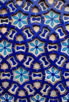 A tile from the Mausoleum of Shah Rukn-e-Alam Wall Art, Canvas Prints, Framed Prints, Wall Peels Tile Patterns, Pattern Art, Textures Patterns, Pattern Design, Tile Art, Mosaic Tiles, Teal Tiles, Blue Mosaic, Wall Tile