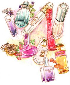 Julia Minamata Illustration -- the blog: cosmetics