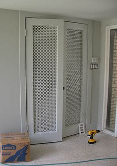 mid century modern closet doors | Closet doors in foyer