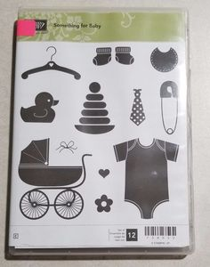 Stampin' Up! Something for Baby and Baby's First Framelits Dies Duck Booties Bib #StampinUp #Background
