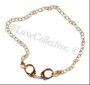 Handcuff Choker Necklace  with Rhinestones - Gold Now available at http://theluxecollective.com