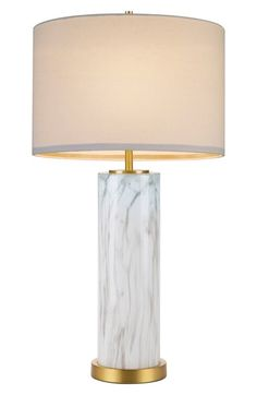cupcakes and cashmere Marble Column Table Lamp available at #Nordstrom