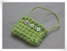 35d84739e70 Miniature crochet handbag / mala de crochet em miniatura by Cards By Paula,  via Flickr