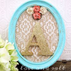 Mint and Coral Nursery Decor Baby Girl Nursery por SeaLoveAndSalt