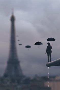 Raining in Paris.