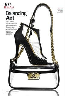 Clear Accessories by Kyle Anderson  Jimmy Choo shoe & Chanel bag  Dec. Marie Claire