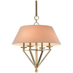 Currey and Company Anthology Vintage Brass Chandelier 9646