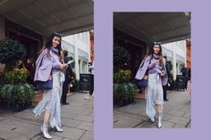 Purple Street style Outfit for LFW SS18 | SweetChiliFashion