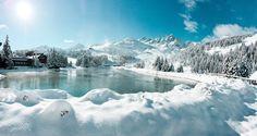 Après les chutes de neige, retour du soleil à Courchevel - ©Facebook Courchevel
