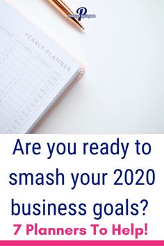 Are you ready to smash your 2020 business goals?A great business & blog planner can help you stay on track, provide motivation, inspiration and help you reach your goals.