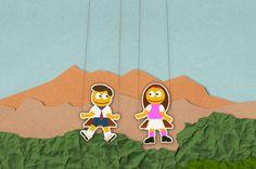 Wir dürfen vorstellen: die Smilos! Als lebhafte Pappgesellen führen Sie durch den Produktkatalog der Spielplatzserie Smile Basic. Playground, Kids