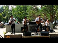 남이섬 여행중 페루가수들의 공연
