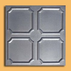 """Alfa Silver (20""""x20"""" Foam) Ceiling Tile by Antique Ceilings. $3.00. Can be installed right over Pop Corn ceiling. Made from high quality Polystyrene foam. Can be painted with most any water or latex based paints. Easy to install - with most any Mastic ceramic tile adhesive. Tin like look from a modern material. The ceiling tiles and panels are made of uniform extruded polystyrene foam. With this technology, it is possible to obtain smooth and even surface. The..."""