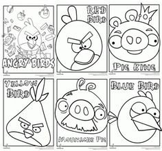 Have an angry birds day. Play angry birds, print these coloring pages, then make angry birds out of toilet paper rolls.
