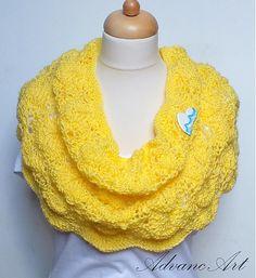 Vlnka v žltej by AdvancArt - SAShE.sk - Handmade Šály