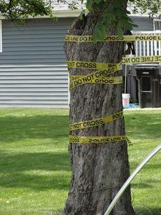 Outdoor Crime Scene Decor - Police tape