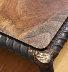 rebar and reclaimed wood table