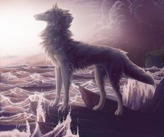 Heey I'm so slow in finishing commissions, sorry! Commission work for It was pleasure to do this, that ocean tough! Wolf Spirit, Spirit Animal, Anime Animals, Cute Animals, Wolf Character, Wolf Pictures, Animal Magic, Anthro Furry, Fox Art