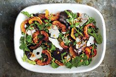 Find the recipe for Roasted Acorn and Delicata Squash Salad and other squash recipes at Epicurious.com