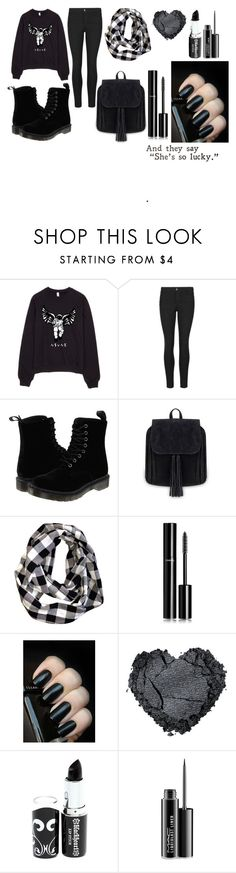 """""""I Broke Up"""" by rsytsfn-xx on Polyvore featuring Indigo Collection, Dr. Martens, Chanel and MAC Cosmetics"""