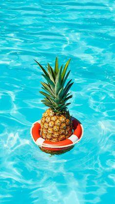 Pineapple Pool iPhone Wallpaper
