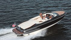 Chris-Craft builds the Capri 21 in fiberglass with all the modern amenities, but its design channels the brand's classic models, such as the 1941 barrelback.