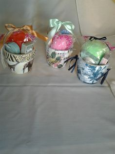 reciclado envase telgopor de helado con cartapesta y decoupage