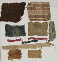 FRAGMENTS OF CHANCY DOLLS, SOME ORIGINAL OTHERS MODERN TEXTILES.
