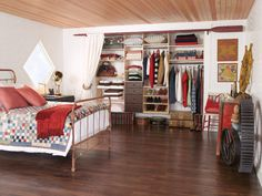 Reach in Closet with Curtains. This is on the top of my to do list!! Christmas Holiday List!!