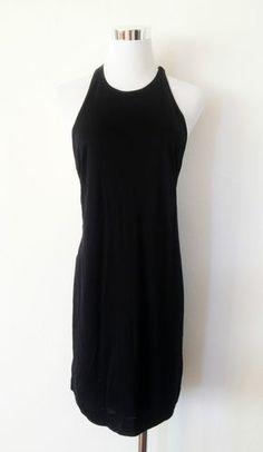 NWT ZARA HALTER NECK DRESS BLACK SIZE M